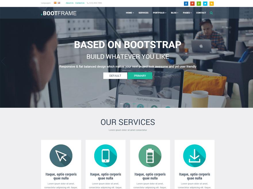 BootFrame Core WordPress Theme
