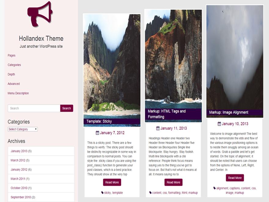 Hollandex WordPress Theme