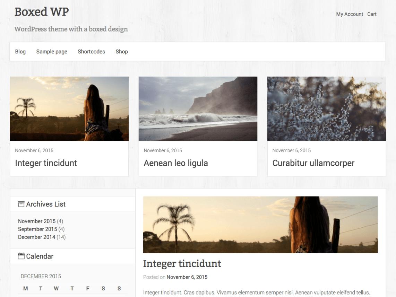 Boxed WP WordPress Theme