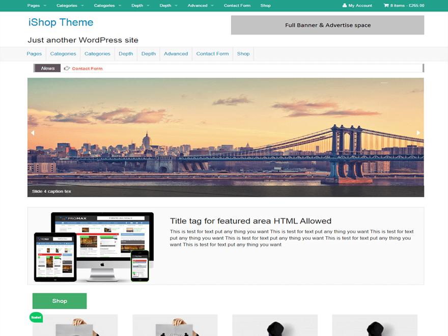 iShop WordPress Theme