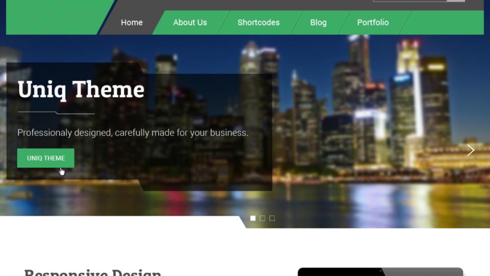Uniq WordPress Theme
