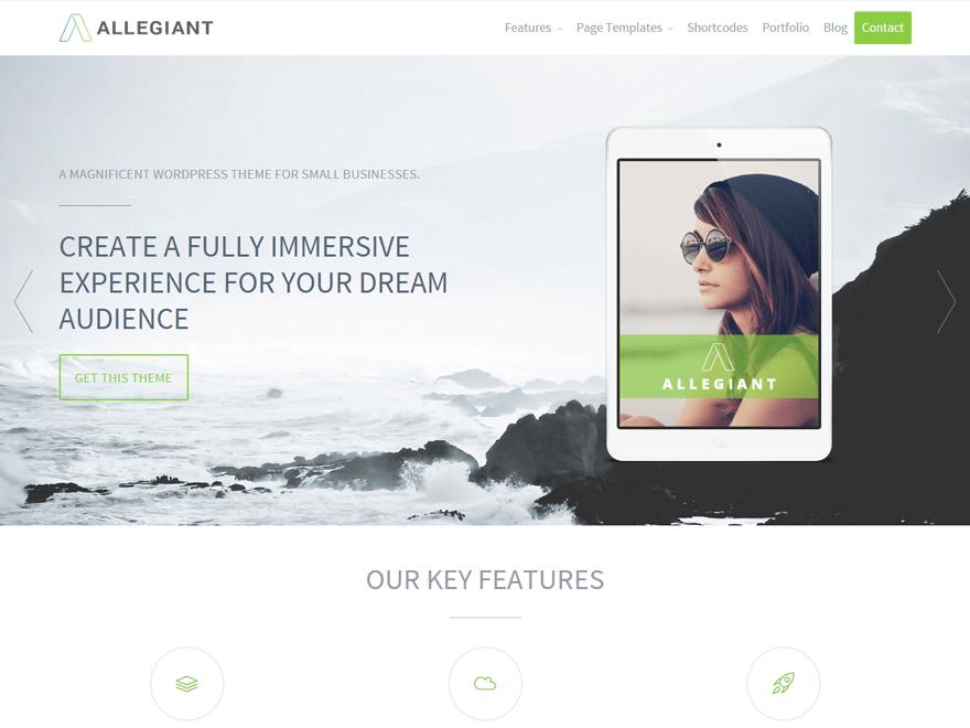 Allegiant WordPress Theme