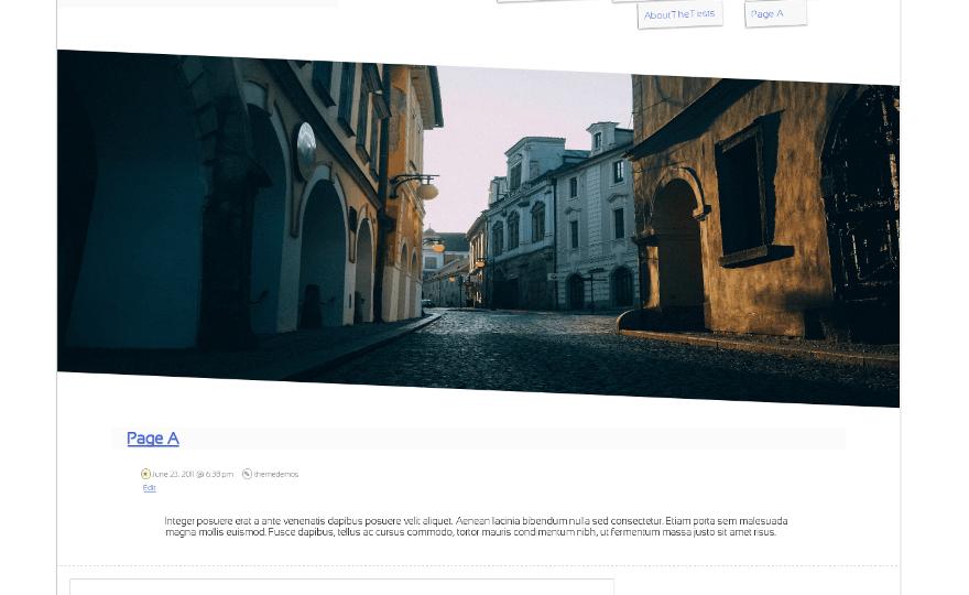 Slanty WordPress Theme