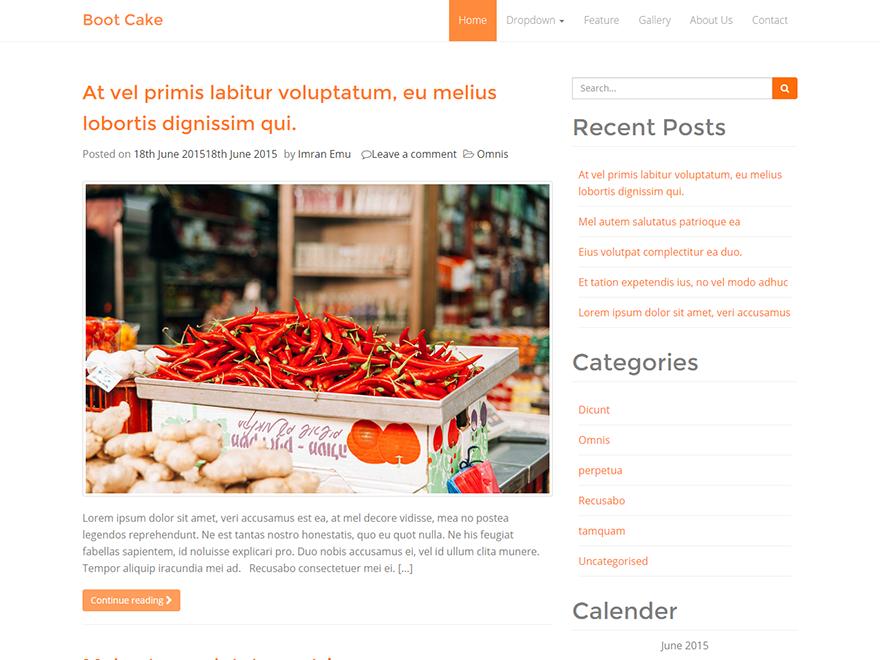 bootcake WordPress Theme