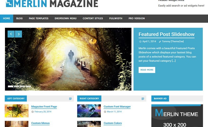 Merlin WordPress Theme