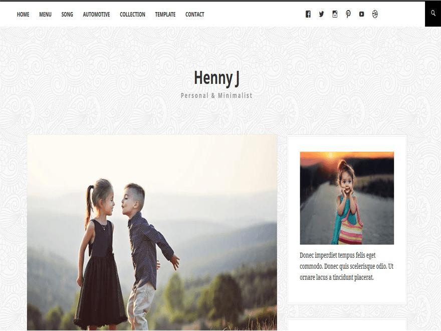 Hennyj WordPress Theme