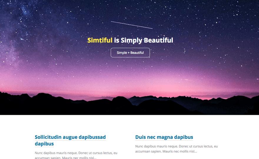 Simtiful WordPress Theme