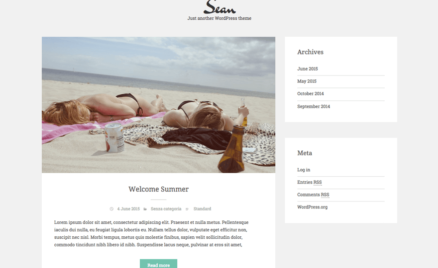 Sean Lite WordPress Theme