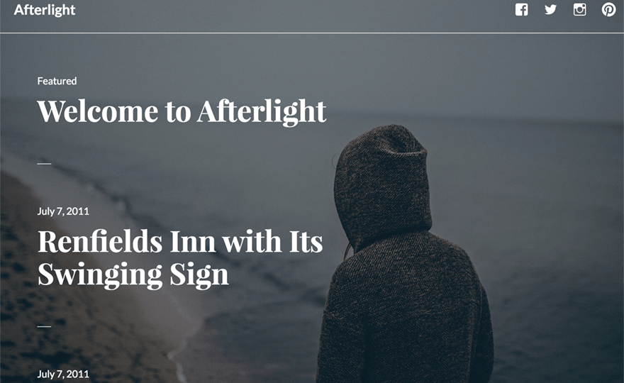 Afterlight WordPress Theme
