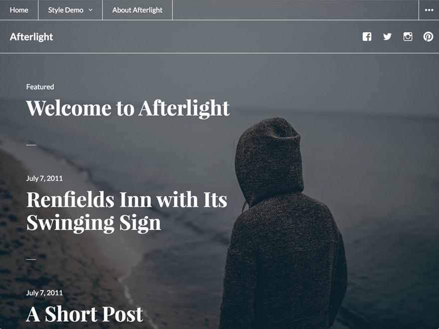 Afterlight WordPress Theme