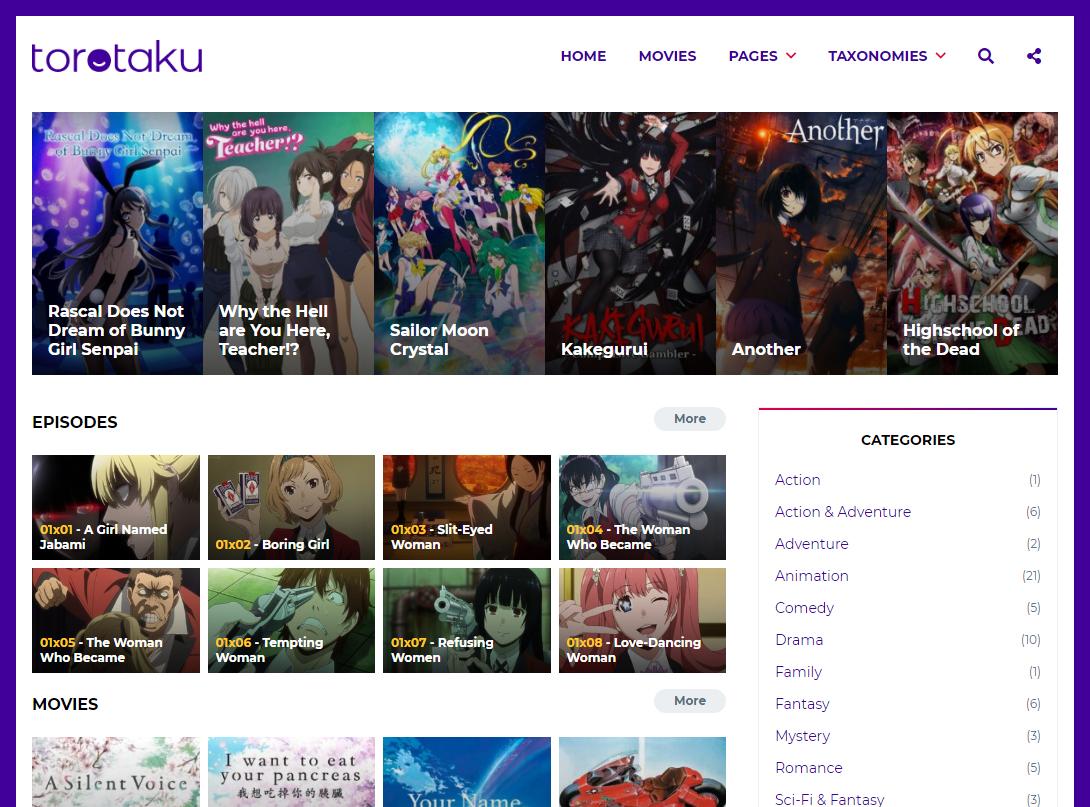 Torotaku Full WordPress Theme Download
